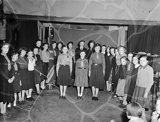 "[Holy Trinity's Girl Guides ""swearing-in"" ceremony at Shrewsbury]"