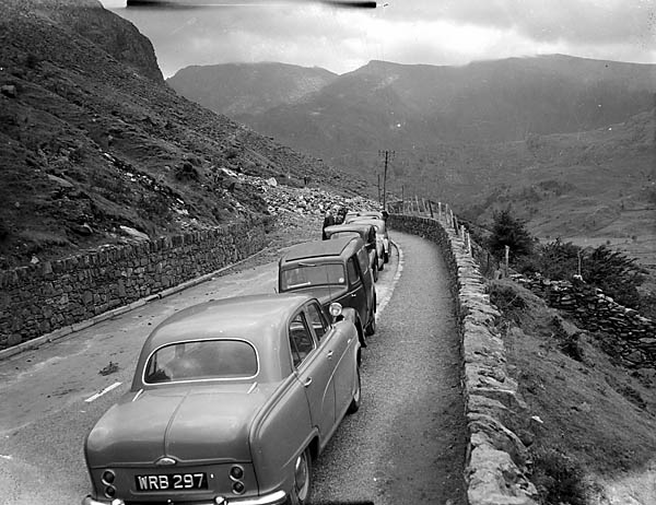 [Landslide on the A5 at Nant Ffrancon]
