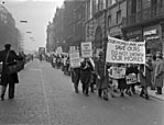 [Protest in Liverpool attempting to stop the flooding of the Tryweryn Valley]