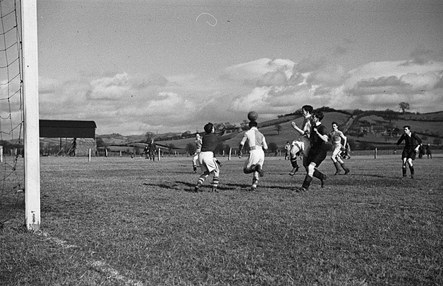 [Montgomeryshire County Schools' Football Shield final between Welshpool and Newtown, at Welshpool]
