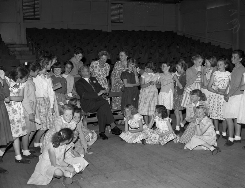 [Preparations for the National Eisteddfod at Ebbw Vale, 1958]