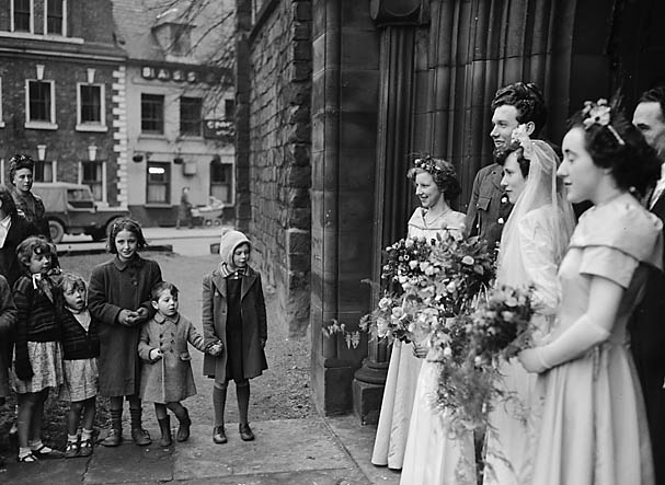 [Wedding at the Abbey, Shrewsbury]