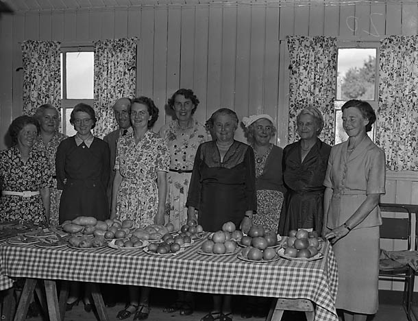 [Members of Welshampton Women's Institue at a show]