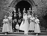 [Wedding of Jean Davies and H D Davies at St Mary's Church, Welshpool]
