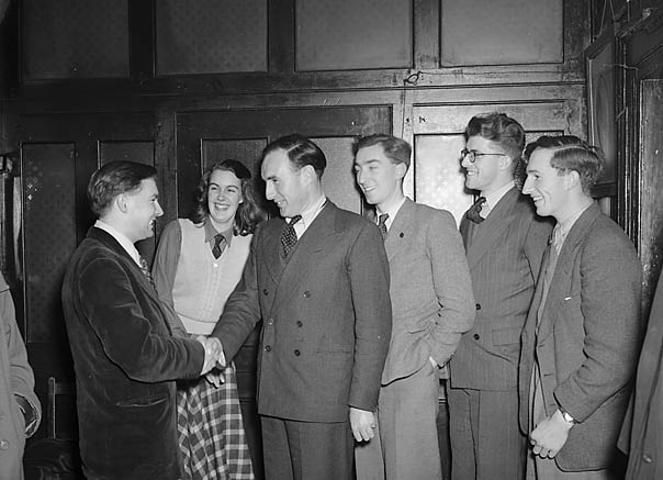 [Mr J L Holt, Shrewsbury MP visiting the young Liberals' Club]
