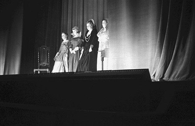 [Presentation to Welshpool Girls' Club who won the Montgomeryshire Youth Drama Festival final]