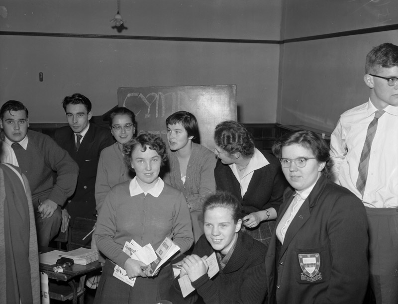 [Freshers fair at the University College of North Wales, Bangor 1958]