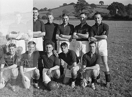 [Royal Welch Fusiliers Football Team beat a Miltia team at Newtown]