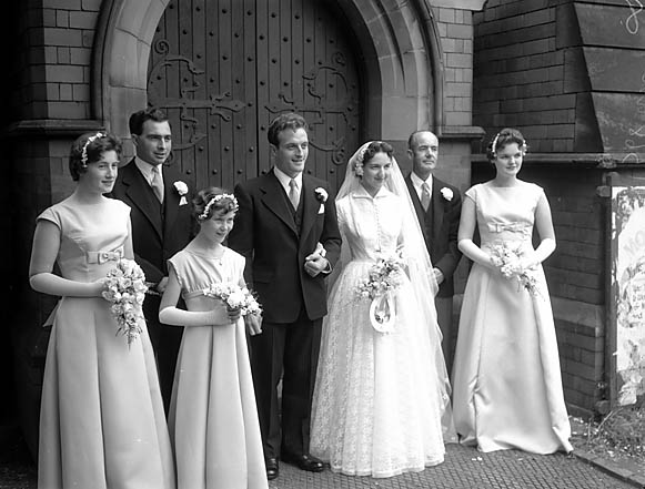 [Wedding of Phyllis Kathleen Davey to Derek Chester at Holy Trinity Church, Shrewsbury]