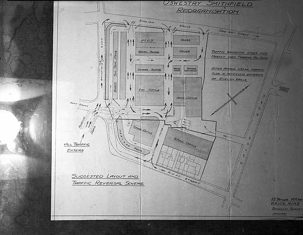 [New Oswestry Smithfield Market plan]