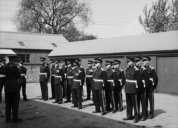 [Military inspection at Harlescott camp]