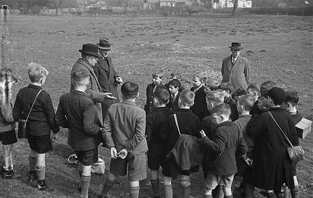 [Boys of Welshpool Church of England School learn pest control]