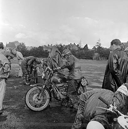 [Motorcycle trials in Llandrindod Wells]