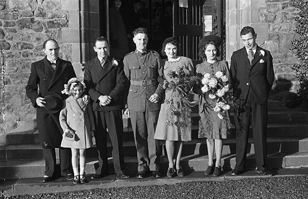 [Wedding of Olga Olive Rogers and William John Powell at St Mary's Church Welshpool]