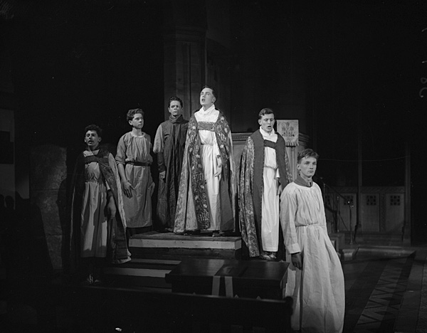 "[A performance of ""The Coming of Christ"" by John Masefield by Friars School at Bangor Cathedral]"