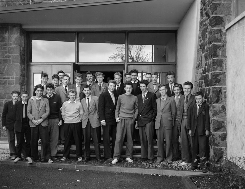 [Girls and boys of Brynrefail School]