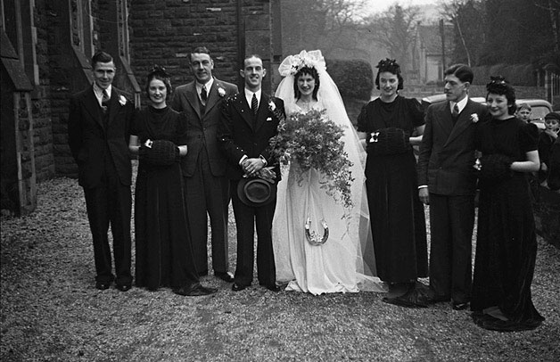 [Wedding of Freda Garnett to George Albert Lewis at the Crescent Church, Newtown]