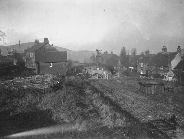 [Brymbo's Senhrel railway crossing]