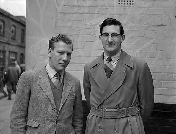 [Keith Clarke and George Lister, winners of Oswestry and District Table Tennis Doubles]