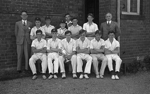 [Welshpool Boys' County School cricket team beat Newtown and won the County Cup]