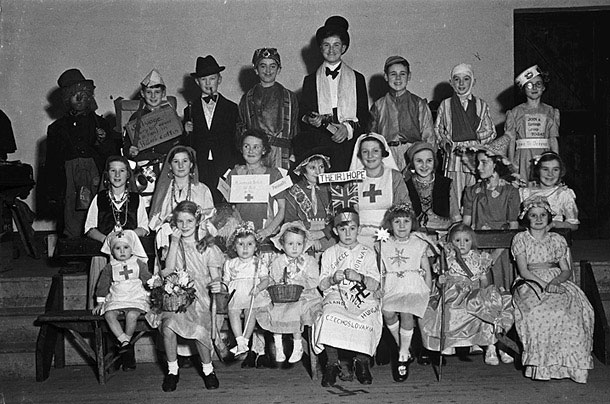 [Children from Kerry, Newtown who took part in a fancy dress competition]