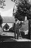 [John Davies celebrates fifty years as Sexton of Trefaldwyn Parish Church]