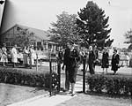 [Visit of the Duchess of Kent to Gobowen Hospital and to Oswestry School]