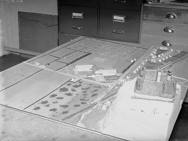 [Model of Harlech Castle and Ardudwy School]