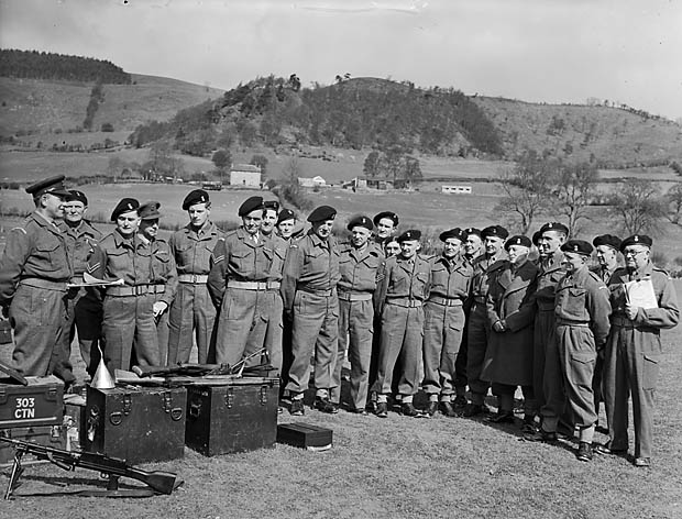 [Home Guard on the firing range at Llansilin]