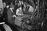 [Tweed making at the Leach family woollen mill at Mochdre]
