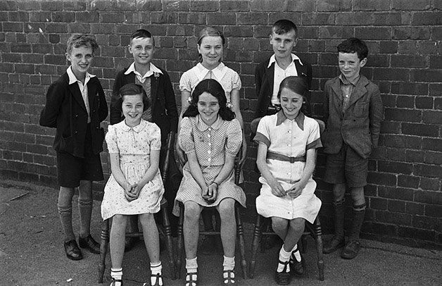 [Llanfyllin school scholarship winners, and a sewing class]