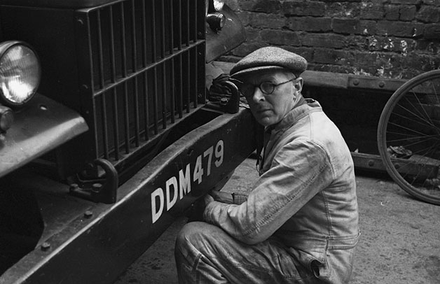 [Cecil Price, mechanic at Caxton Press, Oswestry, 1948]