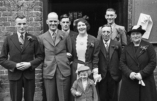 [Wedding of May Horton to Robert Breeze at Llanllwchaiarn Parish Church]