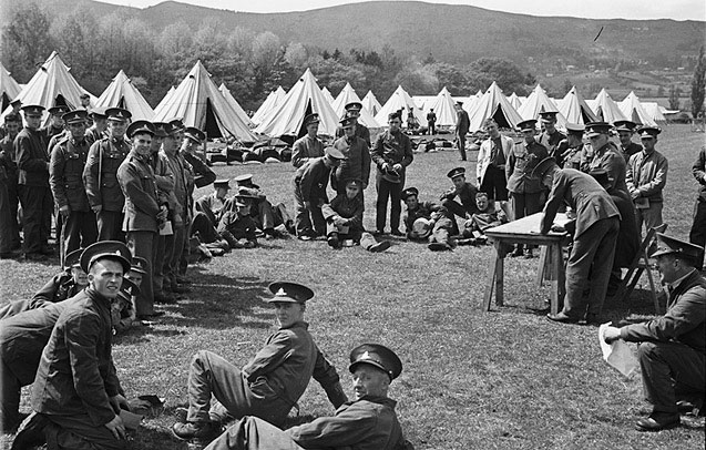 [Territorial Army Training Camp, Blackdown Park, Malvern]
