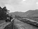 [Widening the road to Trawsfynydd - Oakley Drive - to facilitate an easy evacuation?]