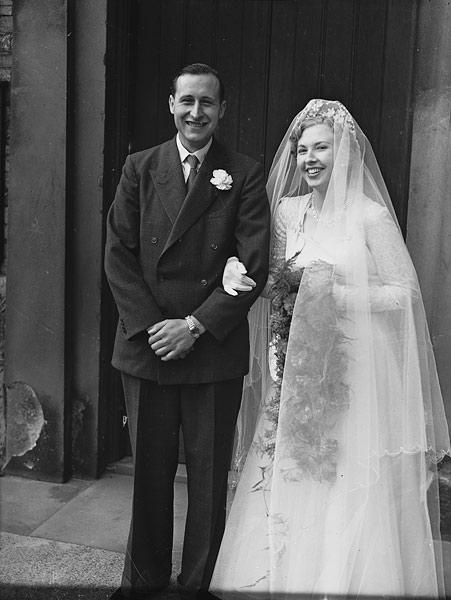[White/Dickinson wedding at St Michael's Church, Shrewsbury]
