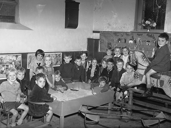 [Youngest class at Rhayader Primary School]