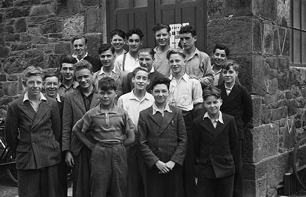 [Birmingham Boys' Club members who are the guests of Llanidloes Boys' Club over the summer]