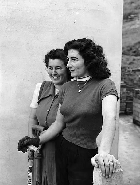 [The gardeners - Dilys Morris and Eirwen Davies]