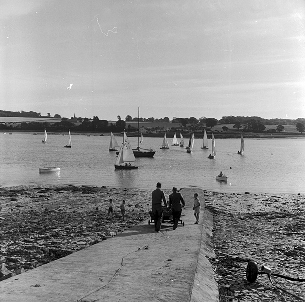 [Felinheli views with sailing boats]