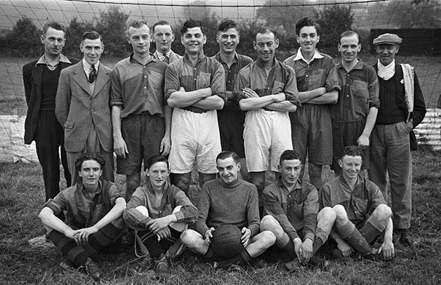[Newtown football team versus RAF, at Newtown]