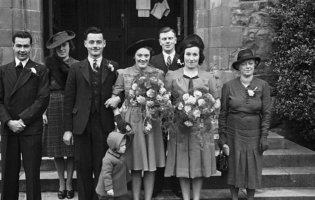 [Wedding of Iris Mary Rowlands and Gerald Thomas Woodfine at St Mary's Church, Welshpool]