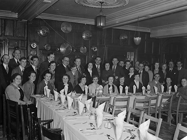 [Members and guests at Llanfyllin FC's annual dinner]