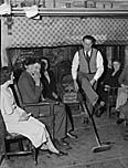 [Basket making class supper at Tŷ Cerrig, Penantlliw]