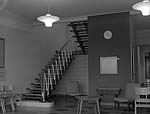 [A wrought iron staircase in the new Llangefni Clinic, designed by H Morris, Menai Bridge]