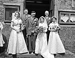 [Wedding of Lilian Mary Roberts, Llanfyllin, and Nathaniel Elwyn Watkin, Meifod]