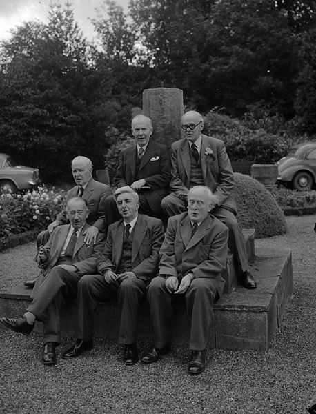 [Fiftieth anniversary of the Welsh Folk-Song Society at Plasnewydd, Llangollen]