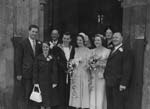 [Wedding of Mr A. Dack to Miss P. C. Rowlands at Shrewsbury Roman Catholic Cathedral]