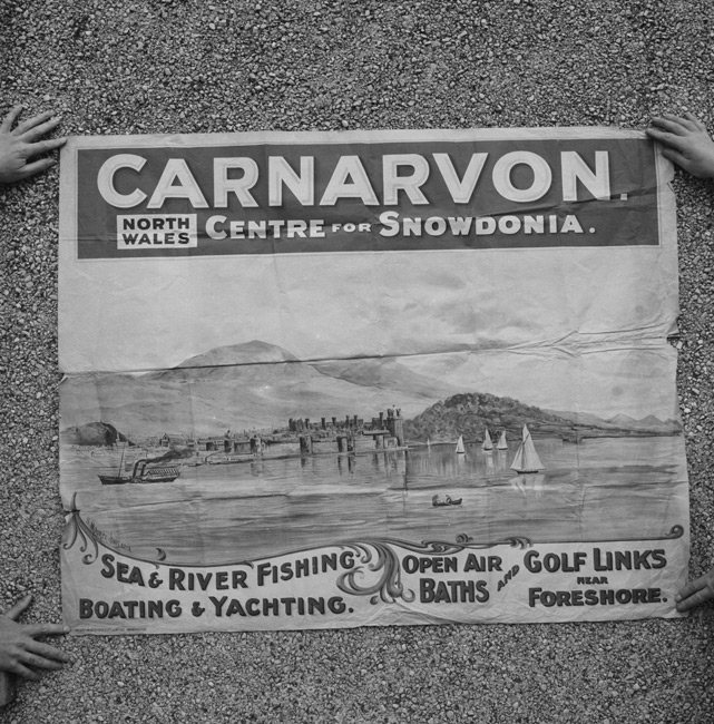 Posters advertising Caernarfon from c.1900