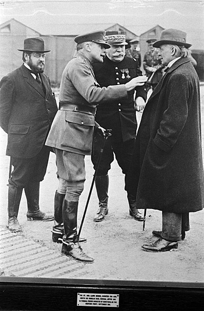 Copies of a First World War photograph of Sir Douglas Haig and General Joffre talking to David Lloyd George with Albert Thomas looking on